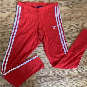 Red adidas originals leggings